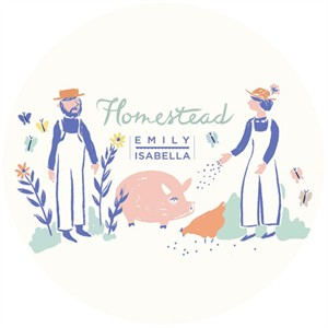 AVAILABLE FOR PREORDER, Homestead by Emily Isabella for Birch Organic Fabrics (October)