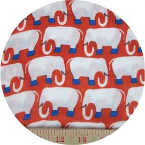 Hokkoh, DOUBLE GAUZE, Elegant Elephants Red
