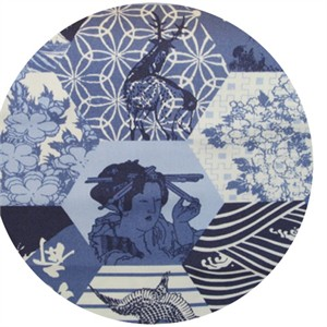 Hokusai, Edo Hexagon Blue