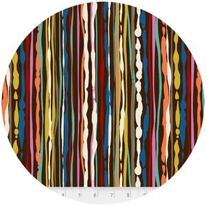 Hoodie, Free Mind, Waterfall Stripes Brown