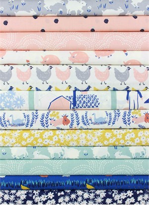 Emily Isabella for Birch Organic Fabrics, Homestead in FAT QUARTERS 11 Total