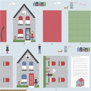 "Windham Fabrics, Neighborhood, House Pillow (35"" panel)"