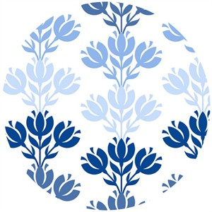 In The Beginning Fabrics, Bloom Modern, Sprout Damask Blue