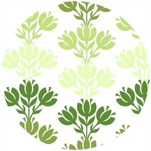 In The Beginning Fabrics, Bloom Modern, Sprout Damask Green