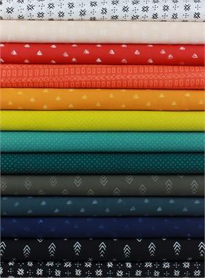 Hoffman Fabrics, Indah BATIKS Spring 2017 in FAT QUARTERS 13 Total