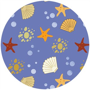 Insights Designs for Wilmington Prints, Sea Breeze, Seashells & Starfish Blue