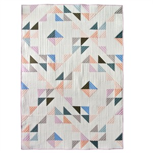 Indian Summer Quilt Kit Featuring New Mod Basics, Solids