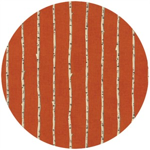 Ingrid Slyder for Moda, Forest Friends, Birch Tree Fox Orange