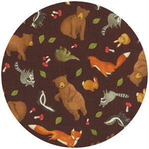 Ingrid Slyder for Moda, Forest Friends, Scattered Critters Bark