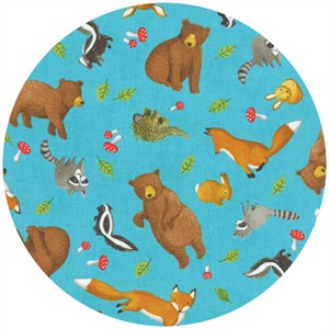 Ingrid Slyder for Moda, Forest Friends, Scattered Critters Cloud