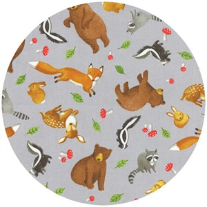 Ingrid Slyder for Moda, Forest Friends, Scattered Critters Pebble