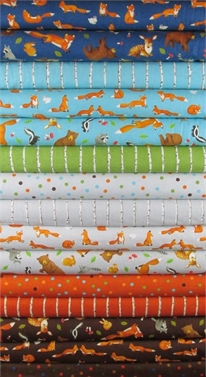Ingrid Slyder for Moda, Forest Friends in FAT QUARTERS 15 Total