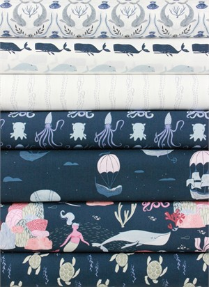 Rae Ritchie for Dear Stella, Into the Reef in FAT QUARTERS 7 Total
