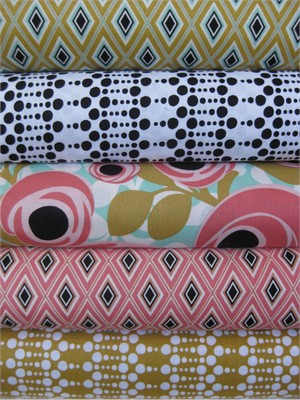 Iza Pearl Designs for Windham, Hello Gorgeous in FAT QUARTERS, 5 Total