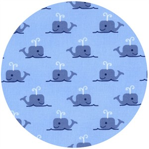 Jack and Lulu, Seaworthy, Whales Blue