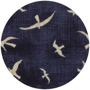 Janet Clare for Moda, Hearty Good Wishes, Seagulls Dark Blue