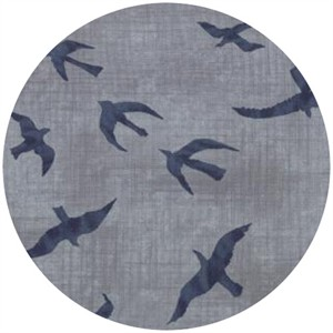 Janet Clare for Moda, Hearty Good Wishes, Seagulls Light Blue