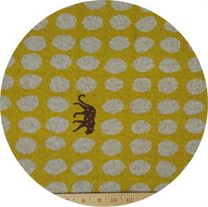 Echino, KNITTED JACQUARD, Jaguar Dot Mustard