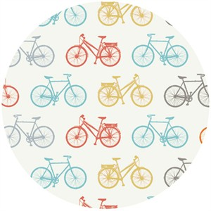 Jay-Cyn Designs for Birch Fabrics, Commute, Organic, Bike It
