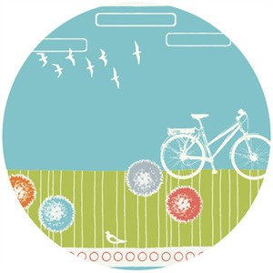 Jay-Cyn Designs for Birch Fabrics, Commute, Organic, By Bike