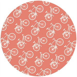 Jay-Cyn Designs for Birch Fabrics, Commute, Organic, Ride Coral
