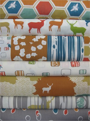 Jay-Cyn Designs for Birch Fabrics, Elk Grove Cotton, Entire Collection in FAT QUARTERS 7 Total (PRE-CUTS)