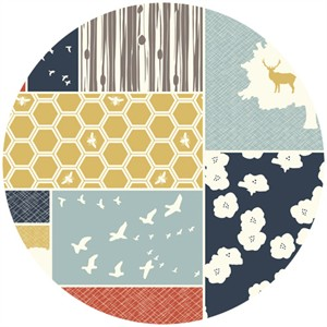 Jay-Cyn Designs for Birch Fabrics, The Grove, ORGANIC CANVAS, Patch Blocks