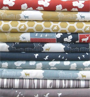 Jay-Cyn Designs for Birch Fabrics, The Grove, ORGANIC CANVAS, Entire Collection in FAT QUARTERS 10 Total  (Pre-cut)