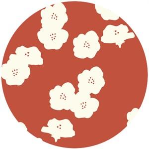 Jay-Cyn Designs for Birch Fabrics, The Grove, ORGANIC CANVAS, Poppies Paprika