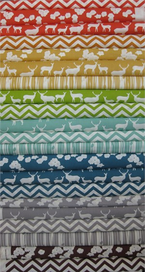 Jay-Cyn Designs for Birch Fabrics, Mod Basics 2, Entire Collection in FAT QUARTERS 22 Total