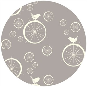Jay-Cyn Designs for Birch Fabrics, Mod Basics, Organic, Birdie Spokes Shroom