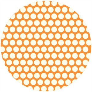 Jay-Cyn Designs for Birch Fabrics, Mod Basics, Organic, Dottie Cream Orange