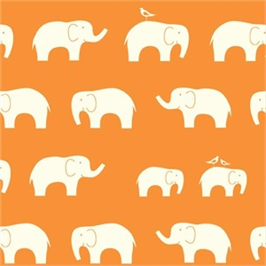 Jay-Cyn Designs for Birch Fabrics, Mod Basics, Organic, Ellie Fam Orange