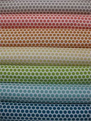 Jay-Cyn Designs for Birch Fabrics, Mod Basics, Organic, Dottie Colors, in FAT QUARTERS, 7 Total