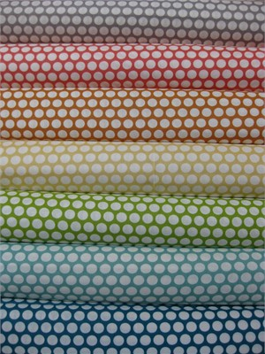 Jay-Cyn Designs for Birch Fabrics, Mod Basics, Organic,  Dottie Cream, 7 Total
