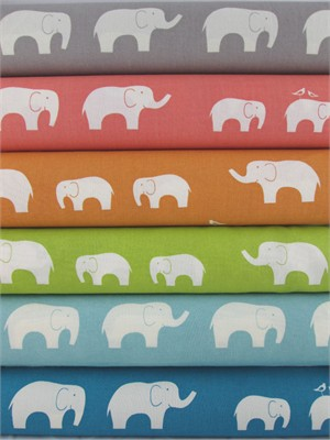 Jay-Cyn Designs for Birch Fabrics, Mod Basics, Organic, Ellie Fam in FAT QUARTERS 6 Total