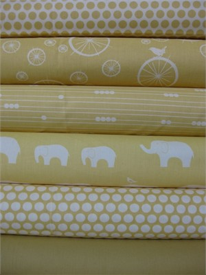 Jay-Cyn Designs for Birch Fabrics, Mod Basics, Organic, Sun in FAT QUARTERS, 6 Total