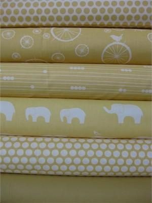 Jay-Cyn Designs for Birch Fabrics, Mod Basics, Organic, Sun in FAT QUARTERS, 6 Total