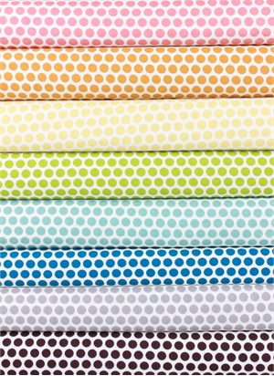 Jay-Cyn Designs for Birch Fabrics, Mod Basics, Dottie Color V.2 in FAT QUARTERS 7 Total