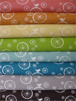 Jay-Cyn Designs for Birch Fabrics, Mod Basics, Birdie Spokes V.2 in FAT QUARTERS 8 Total (Pre-cut)