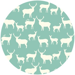 Jay-Cyn Designs for Birch Fabrics, Mod Basics 2, Organic, Elk Fam Pool