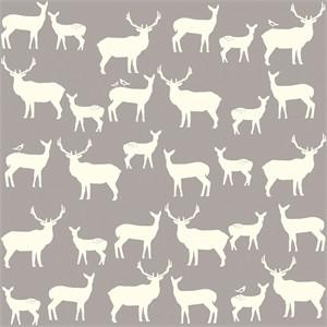 Jay-Cyn Designs for Birch Fabrics, Mod Basics 2, Organic, Elk Fam Shroom