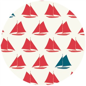 Jay-Cyn Designs for Birch Fabrics Organic, Set Sail, Sailboat Apple