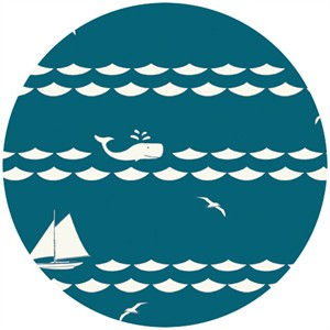Jay-Cyn Designs for Birch Fabrics Organic, Set Sail, Set Sail Teal