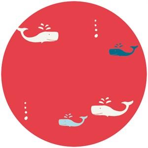 Jay-Cyn Designs for Birch Fabrics Organic, Set Sail, Whale Apple