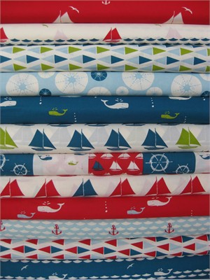 Jay-Cyn Designs for Birch Fabrics Organic, Set Sail, 11 Total