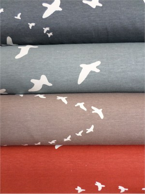 Jay-Cyn Designs for Birch Fabrics Organic, VOILE, Flight in FAT QUARTERS 4 Total