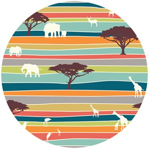 Jay-Cyn Designs for Birch Fabrics, Serengeti, The Plains Stripe