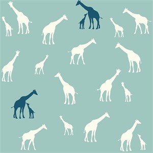 Jay-Cyn Designs for Birch Fabrics, Serengeti, Giraffe Fam Pool