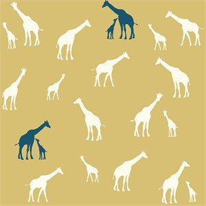 Jay-Cyn Designs for Birch Fabrics, Serengeti, Giraffe Fam Sun